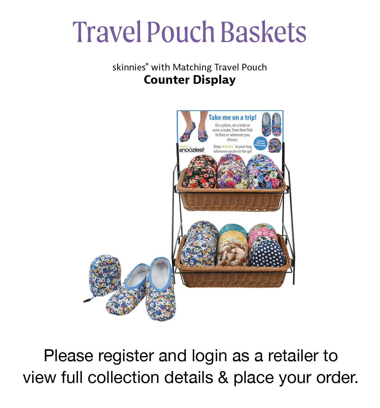 Travel Pouch Spinner Display